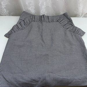 H&M Houndstooth Mini Skirt SIZE 6